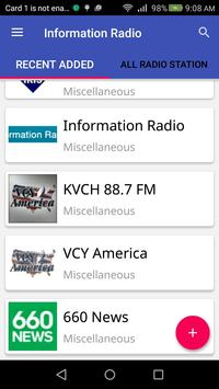 Information Radio screenshot 1