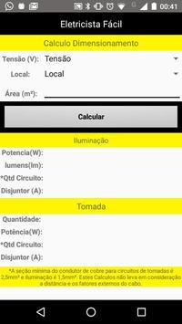 Dimensionamento Elétrico - Eletricista Fácil screenshot 1