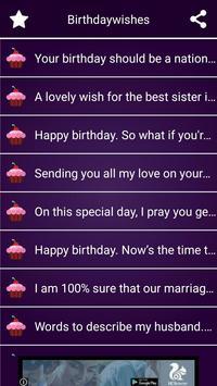 BirthdayWishes apk screenshot