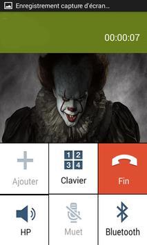 Ça Killer Clown Fake call poster