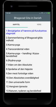 Bhagavad gita in Danish apk screenshot