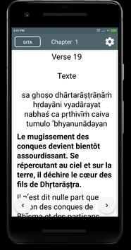 Bhagavad gita in French poster