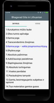 Bhagavad gita in Lithuanian apk screenshot