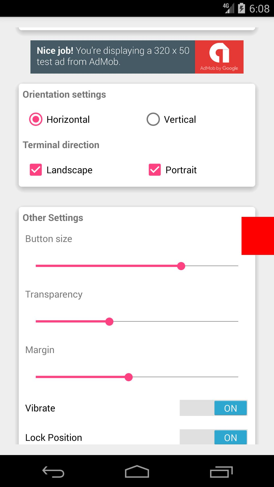Soft Keys home back button (bottom navigation bar) for