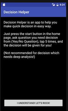 Decision Helper screenshot 1