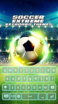 Soccer Extreme Keyboard Themes poster