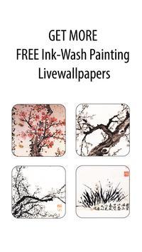 inkwash flower&bird wallpaper apk screenshot