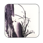 orchid stone inkwash wallpaper icon