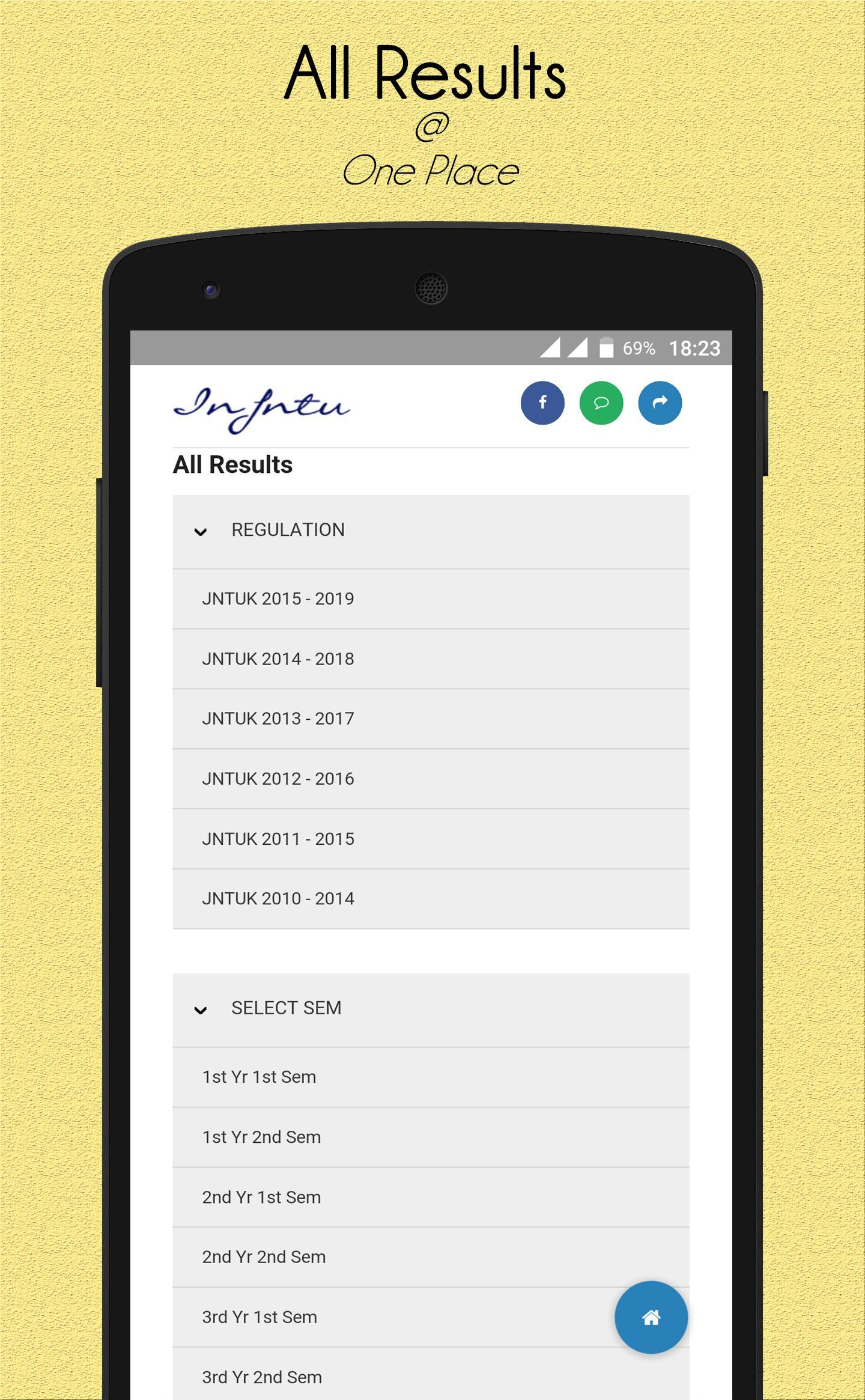 In JNTU Live Updates & Results for Android - APK Download