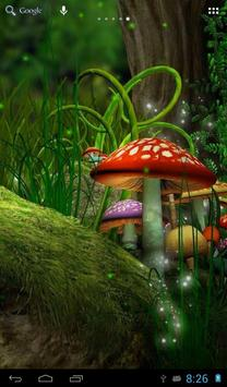 Fireflies in the fairy forest poster