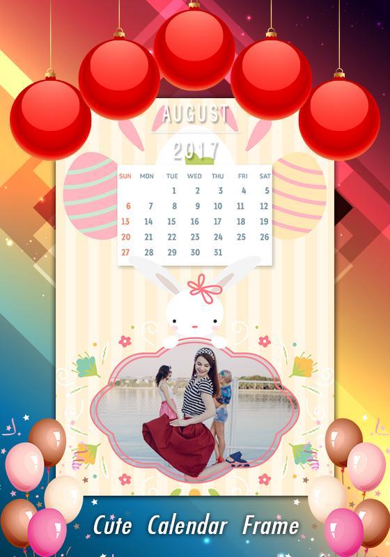 Calendar Photo Frames 2017 HD poster