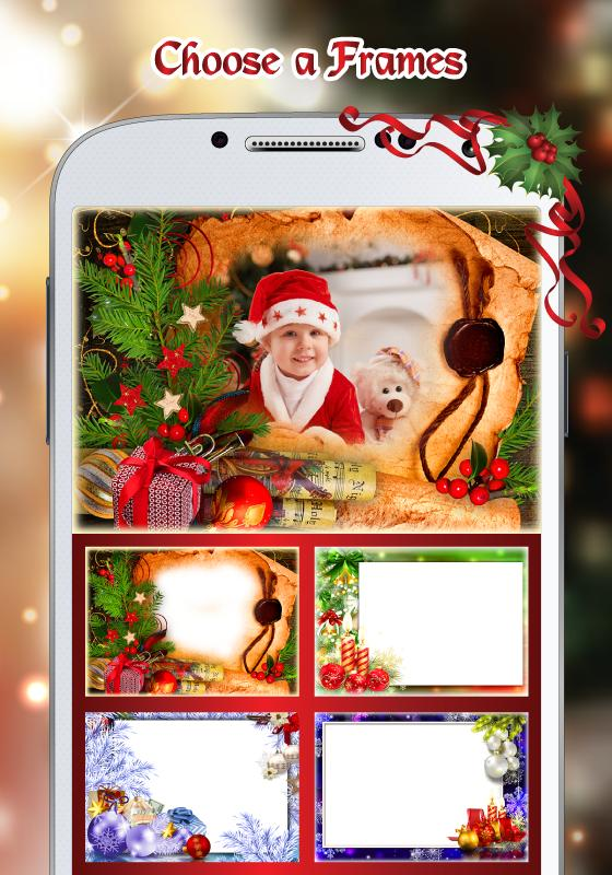 Merry Christmas Photo Frame poster