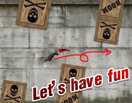 Flappy Fly Knifes Game poster