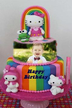 Photo on Birthday Cake Frame screenshot 1
