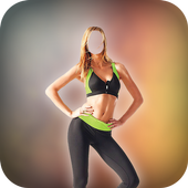 Woman Fitness Photo Suit icon