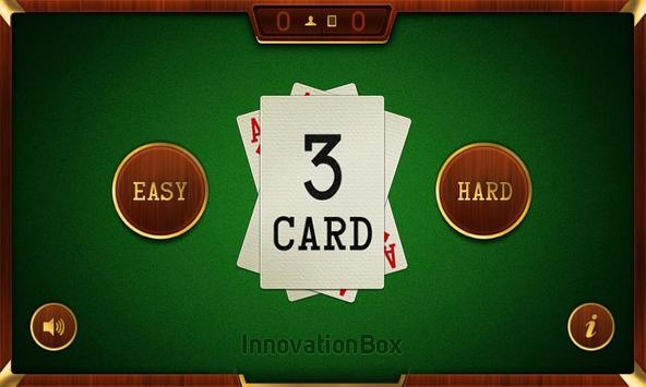 3 Card poster