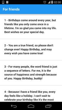 Birthday Wishes and SMS apk screenshot