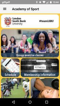 LSBU Academy of Sport poster