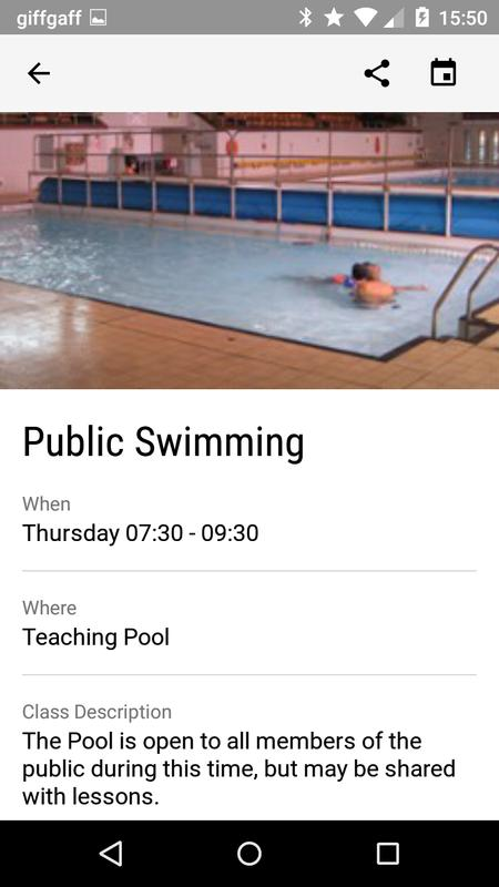 Vision rcl apk baixar gr tis sa de e fitness aplicativo para android for Fullwell cross swimming pool times