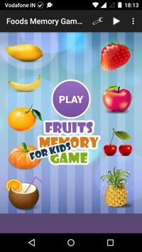 Food Memory Game for Kids poster