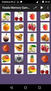 Food Memory Game for Kids screenshot 2