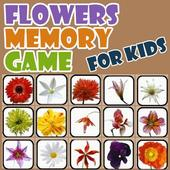 Flowers Memory Game for Kids icon