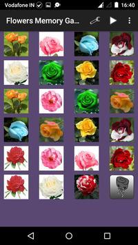 Flowers Memory Game for Kids screenshot 2