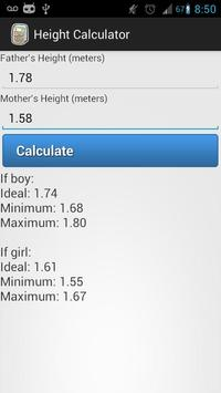 Height Calculator screenshot 1