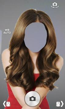 Woman hair style photo montage poster