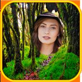 정글 숲 사진 프레임 아이콘