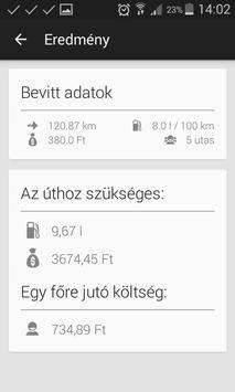 Tankolás Kalkulátor apk screenshot