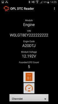 OPL DTC Reader apk screenshot
