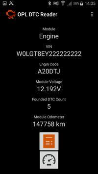 OPL DTC Reader screenshot 2