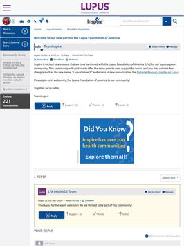 LupusConnect Inspire Community apk screenshot