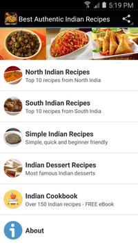 Best authentic indian recipes apk download free food drink app best authentic indian recipes poster forumfinder Image collections