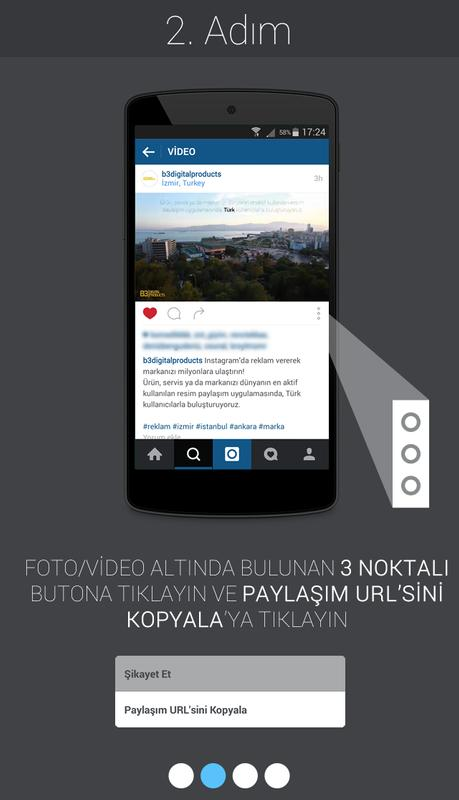 instagram da video indir