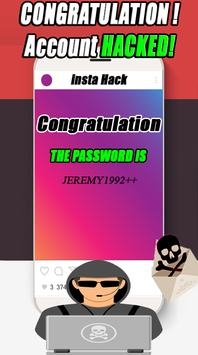 Insta Password Hacker Prank apk screenshot