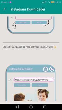 تحميل الصور و الفيديو من أنستقرام apk screenshot