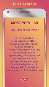Best Hashtags for Instagram apk screenshot