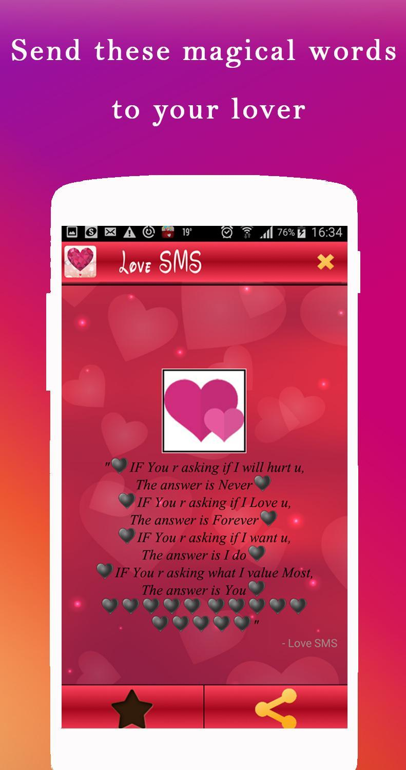 Heart touching Messages ♥ Romantic love SMS for Android