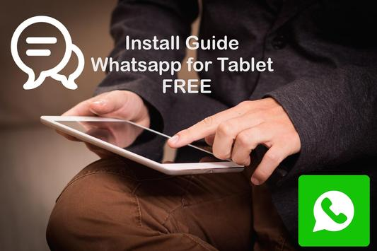 install whatsapp on android tablet free