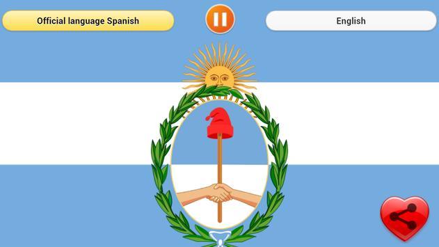 National Anthem of Argentina poster