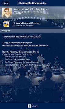 Chesapeake Orchestra apk screenshot