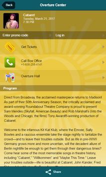 Overture Center for the Arts apk screenshot