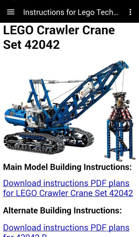 Instructions For Lego Technic Apk