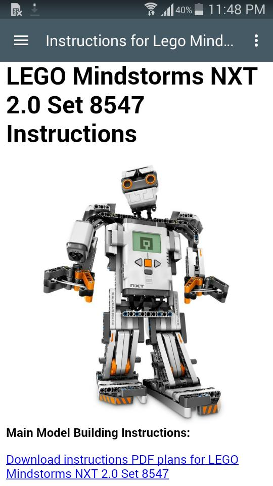 Instructions Lego Mindstorms for Android - APK Download
