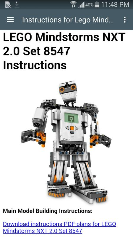 Instructions Lego Mindstorms For Android Apk Download