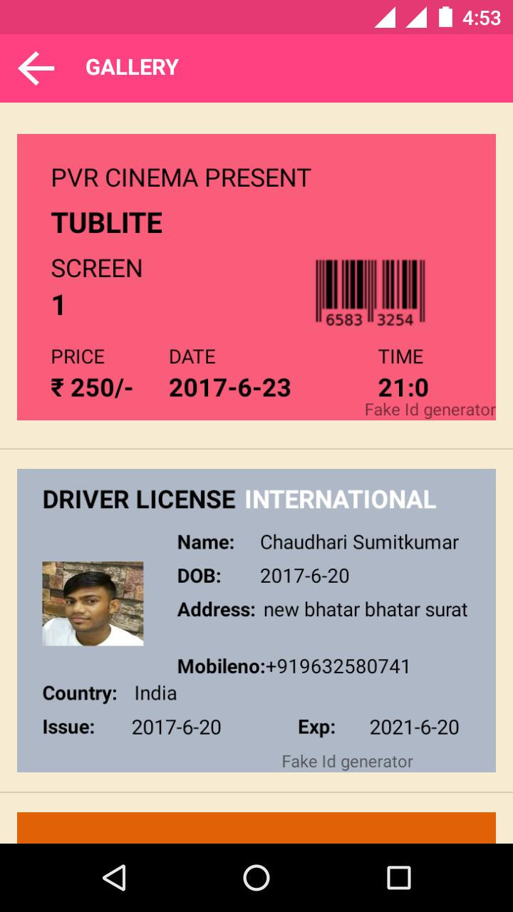 Fake aadhar Card ID Generator for Android - APK Download