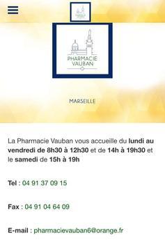 Pharmacie Vauban Marseille poster