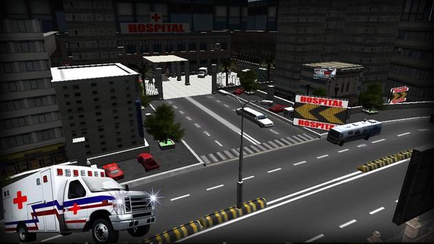 Ambulance Emergency Driver 3D screenshot 2